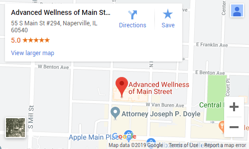 Chiropractic Naperville IL Map